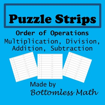 Puzzle Strips: Order of Operations MDAS PACK