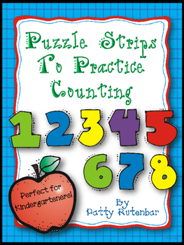 Puzzle Strips for Counting - Great for Kindergarten