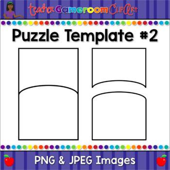 Freebie - Crazy Puzzle Pack - Puzzle Template #2