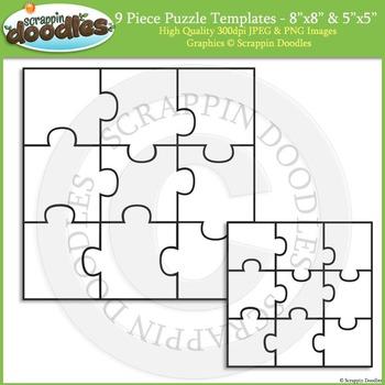 Puzzle Templates - 9 Piece Square