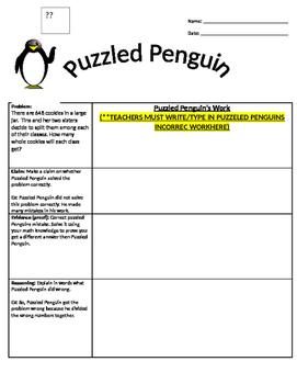 Puzzled Penguin Claim Evidence Reason Orgainzer