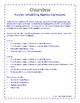 Puzzles: Simplifying Algebraic Expressions- Distributive P
