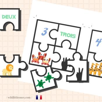 Numbers Puzzles 1 to 10⎜Puzzles des Nombres de 1 à 10 en français