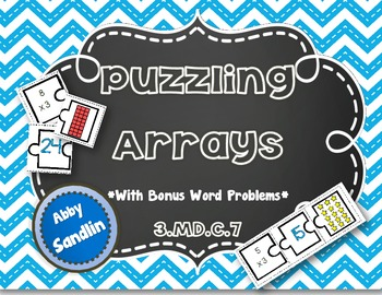 Puzzling Arrays with Bonus Word Problems {3.MD.C.7}