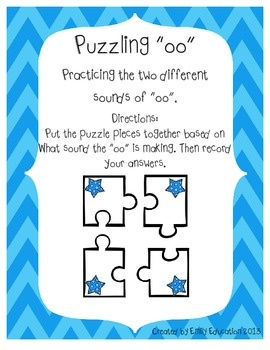"Puzzling ""oo"". Practicing the two different sounds of double O"
