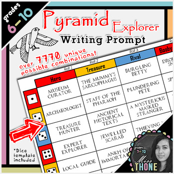 Pyramid Explorer Roll-A Writing Prompt