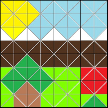 Pythagoras Colouring Puzzle