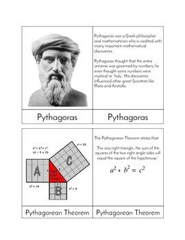 Pythagoras - Three Part Cards