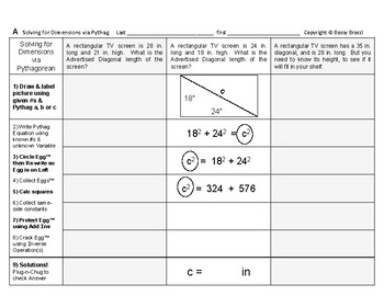 Pythagorean 08: Solving for Various Dimensions via the Pyt