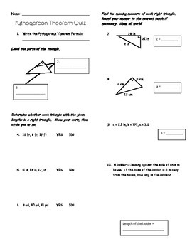 Pythagorean Quiz