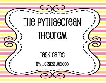 Pythagorean Task Cards w/QR Code Sheet