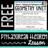 Free Pythagorean Theorem Lesson