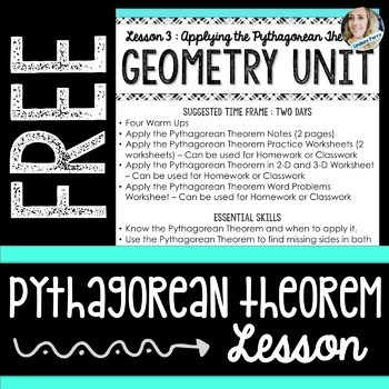 Free Pythagorean Theorem Lesson