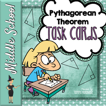 Pythagorean Theorem - 30 Task Cards