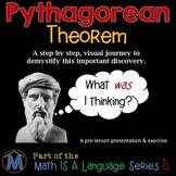 Pythagorean Theorem:  A Visual Journey Through the Eyes of