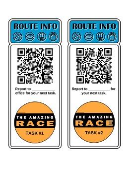 Pythagorean Theorem Amazing Race QR Code Activity