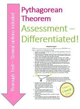 Pythagorean Theorem Assessment - 30 Questions, All Skills