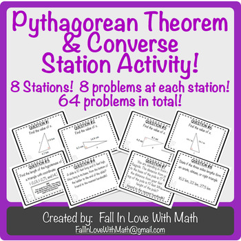 Pythagorean Theorem & Converse Station Activity
