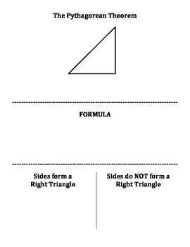 Pythagorean Theorem - Cut & Paste Activity