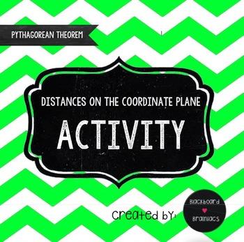 Pythagorean Theorem Distances Activity Coordinate Plane TEK 8.7D