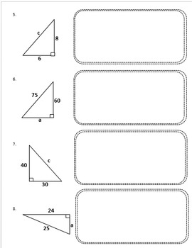 Pythagorean Theorem Excercise Problems