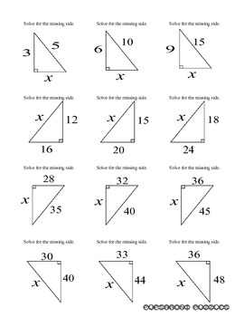 Pythagorean Theorem Flashcards - PP