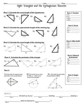 Pythagorean Theorem ~ Fun Activity