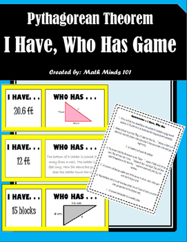 Pythagorean Theorem - I Have, Who Has Game