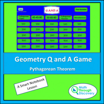 Geometry Smartboard Q and A Game - Pythagorean Theorem