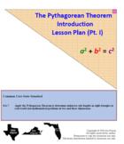 Pythagorean Theorem Lesson Plan (w/ Common Core standards)