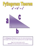 Pythagorean Theorem Notes- sized for notebook