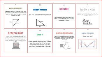 Pythagorean Theorem Scavenger Hunt or Train