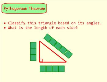 Pythagorean Theorem Smartboard Visual