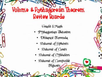 Pythagorean Theorem & Volume Review