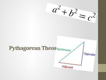 Pythagorean Theorem Webquest