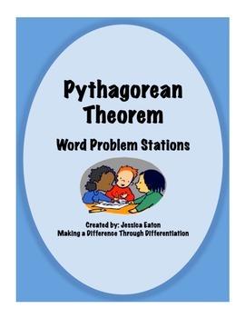 Pythagorean Theorem Word Problem Stations