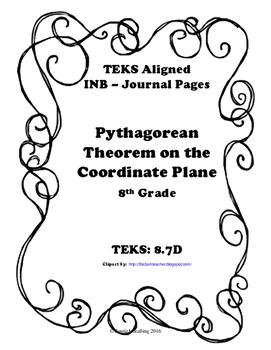 Pythagorean Theorem on the Coordinate Plane INB-TEKS 8.7D