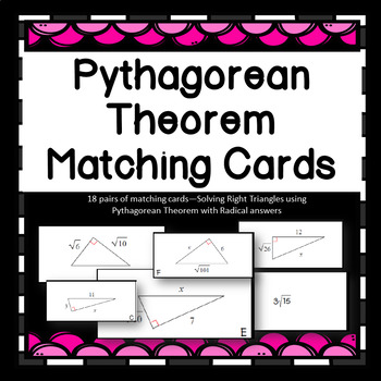 Solving Right Triangles using Pythagorean Thm Radical Answ