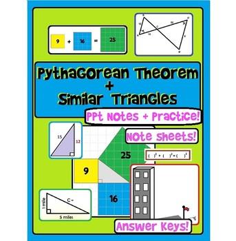 Pythagorean Theorem+Similar Right Triangles