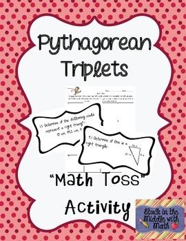 Pythagorean Triplets Math Toss Activity