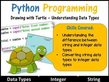Python Programming Coding (Creating Shapes) Lesson 5 – Data Types