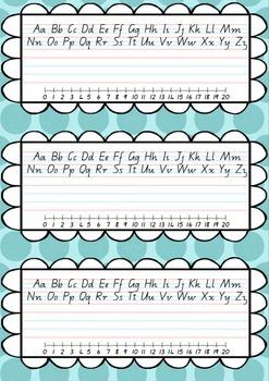 Q Cursive Font Desk Name Plate - Entries & Exits
