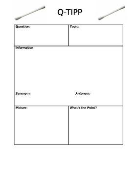 Q-TIPP Lesson Graphic Organizer