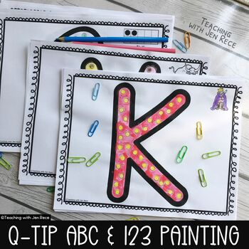 Q-Tip Painting: ABCs, 123s, Ten Frames and Beginning Sound