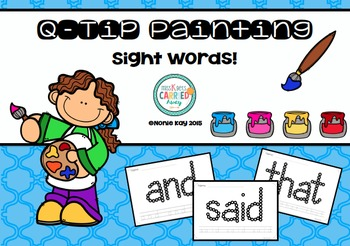 Q-Tip Painting Pages SIGHT WORDS - Literacy word work activity