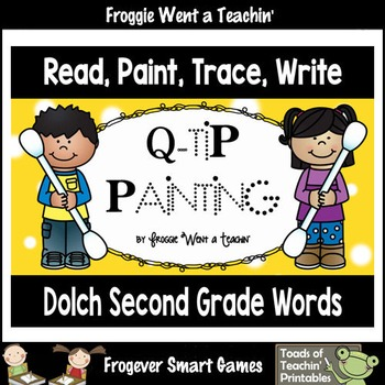 Q-Tip Painting Sight Words--Dolch Second Grade Words Read,