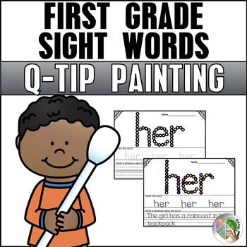 Sight Words (First Grade List) - Q-Tip Painting