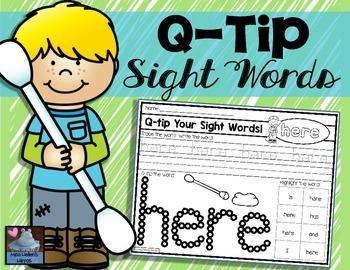 Q-Tip Sight Words!