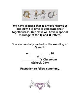 Q and U Wedding Invitations and RSVPs