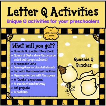 """Letter """"Q"""" Activites, a delightful """"Q"""" unit for young children"""